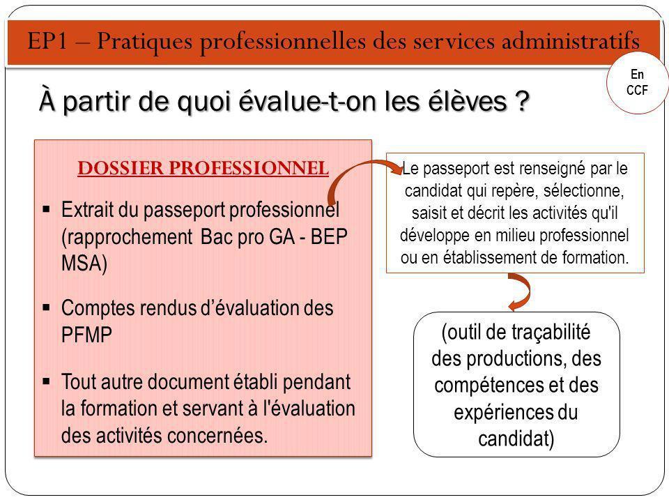 EP2 – Culture professionnelle En CCF Quand peut-on présenter les élèves .