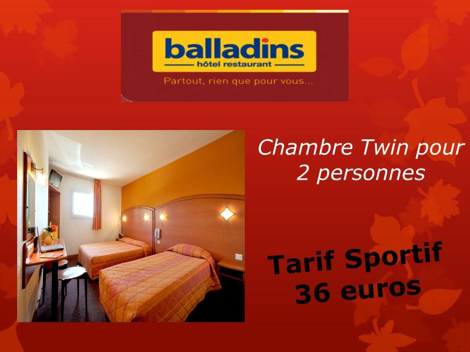 Chambre Simple Grand lit pour 1 ou 2 personnes Tarif Sportif 38 euros