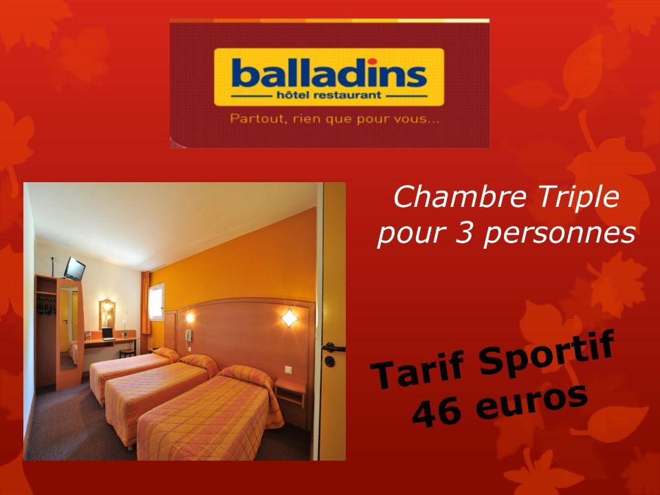 Chambre Twin pour 2 personnes Tarif Sportif 36 euros