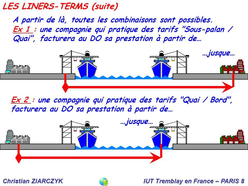 Christian ZIARCZYK IUT Tremblay en France – PARIS 8 A partir de là, toutes les combinaisons sont possibles.