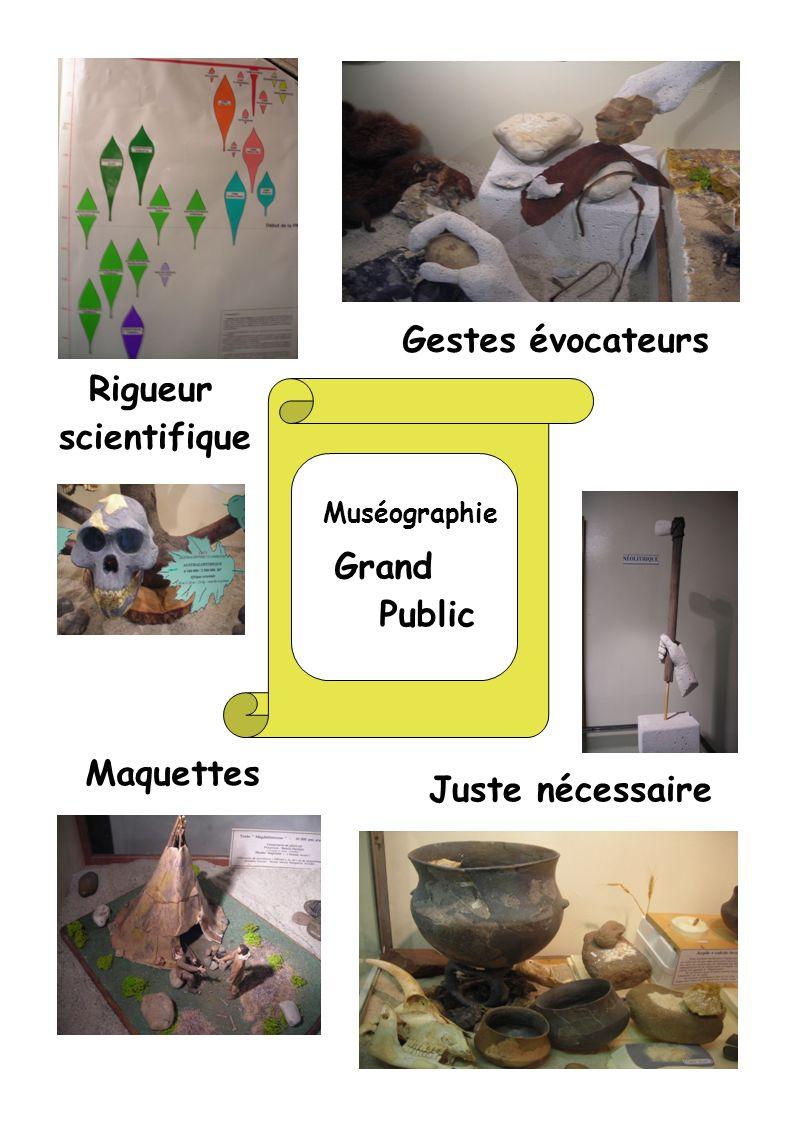 Muséographie Grand Public Rigueur scientifique Gestes évocateurs Juste nécessaire Maquettes
