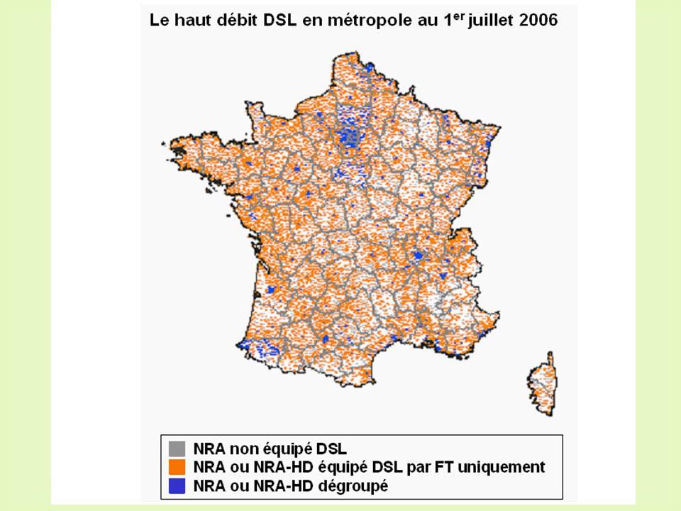 11 184 répartiteurs téléphoniques équipés en ADSL par France-Télécom.