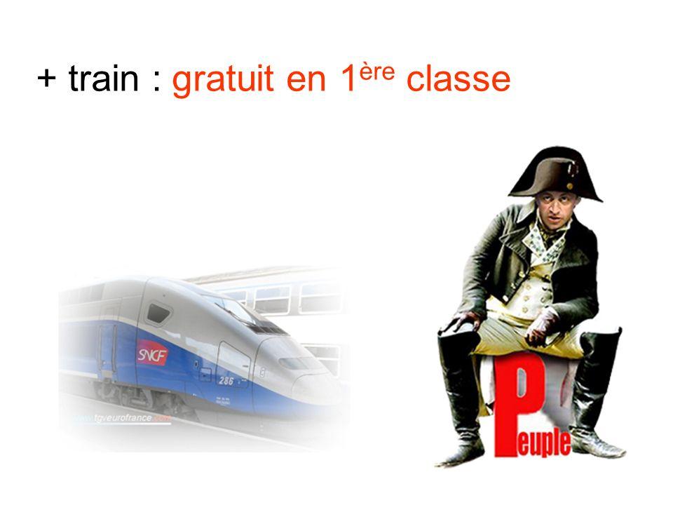 + train : gratuit en 1 ère classe