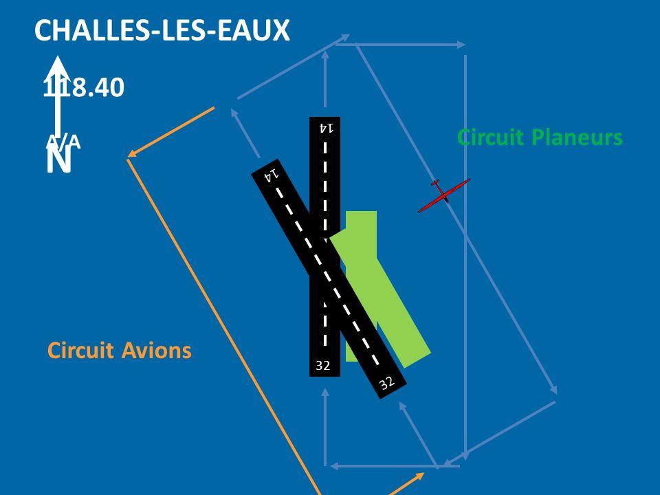 32 14 CHALLES-LES-EAUX 118.40 A/A 32 14 32 14 N Circuit Planeurs Circuit Avions