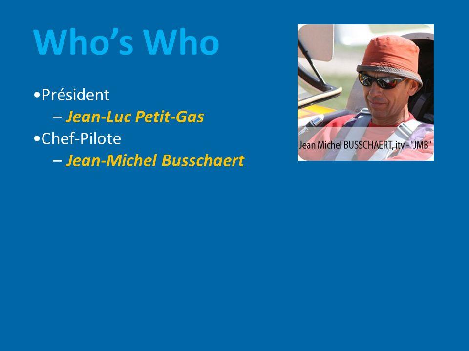 Whos Who Président – Jean-Luc Petit-Gas Chef-Pilote – Jean-Michel Busschaert