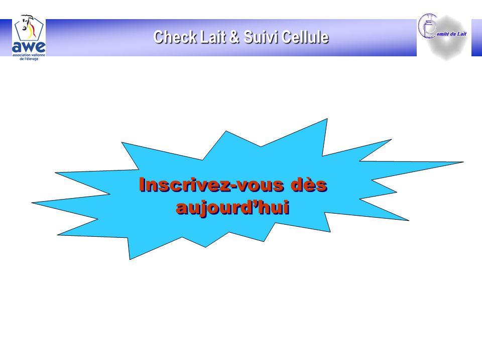 Inscrivez-vous dès aujourdhui Inscrivez-vous dès aujourdhui Check Lait & Suivi Cellule