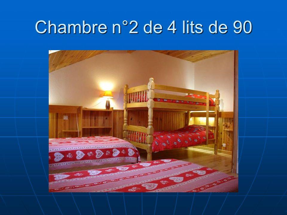 Chambre n°2 de 4 lits de 90