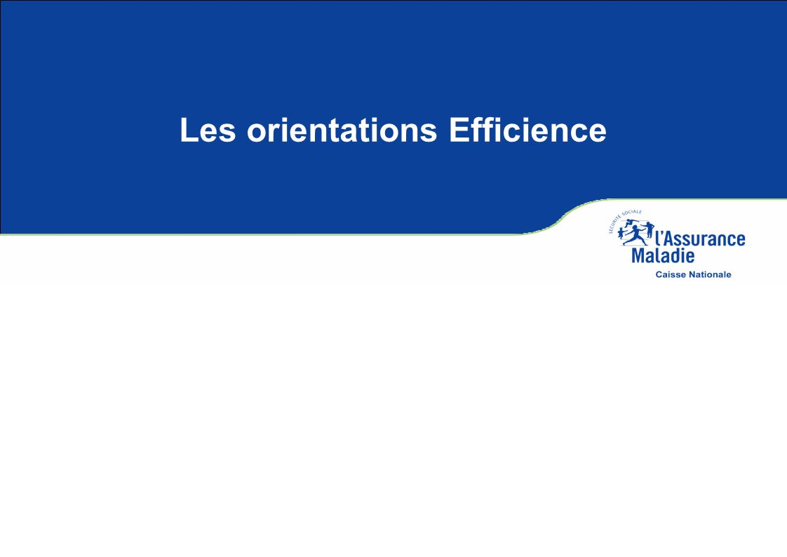 Les orientations Efficience
