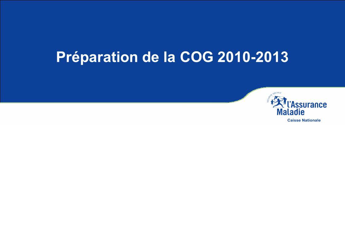 Préparation de la COG 2010-2013