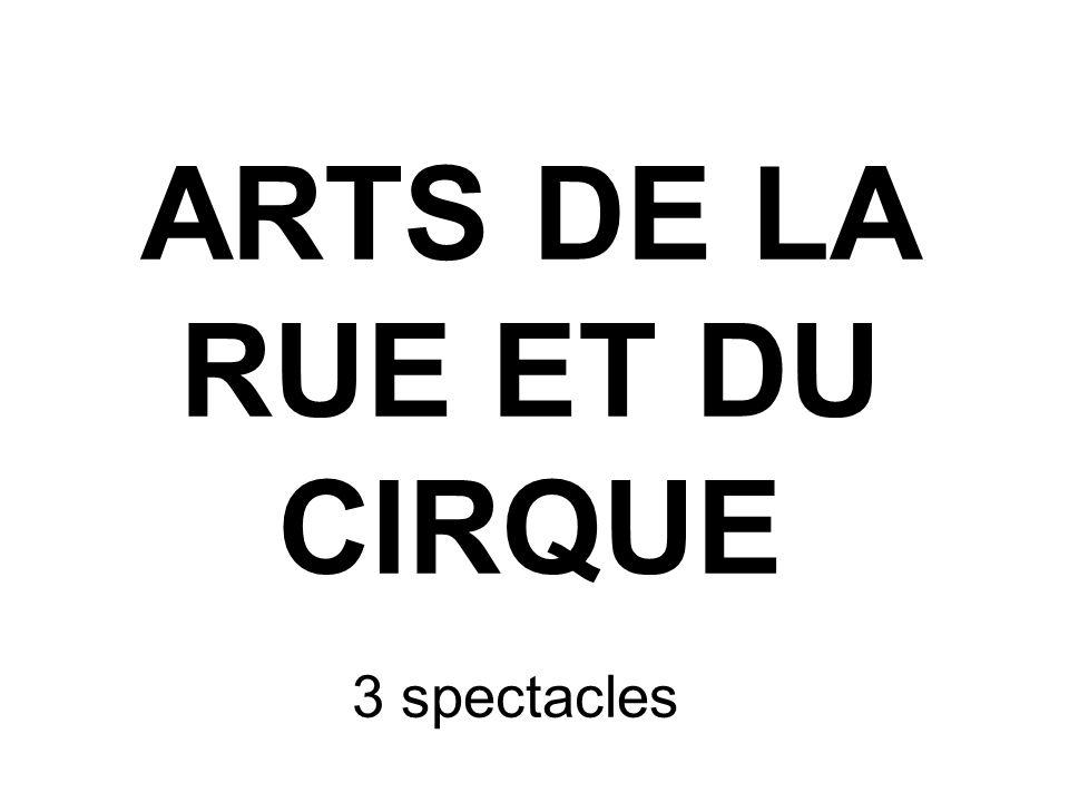 ARTS DE LA RUE ET DU CIRQUE 3 spectacles