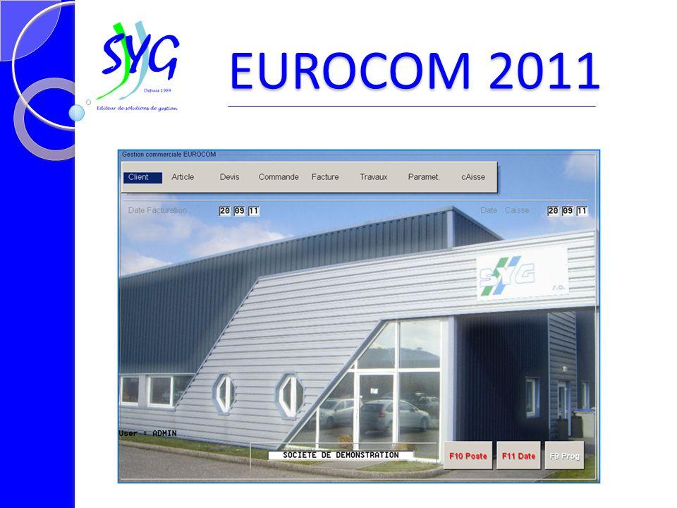 Le tableau de bord EUROCOM 2011