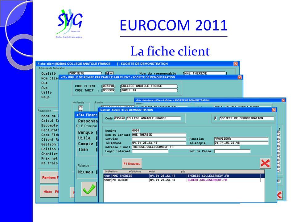 La saisie EUROCOM 2011