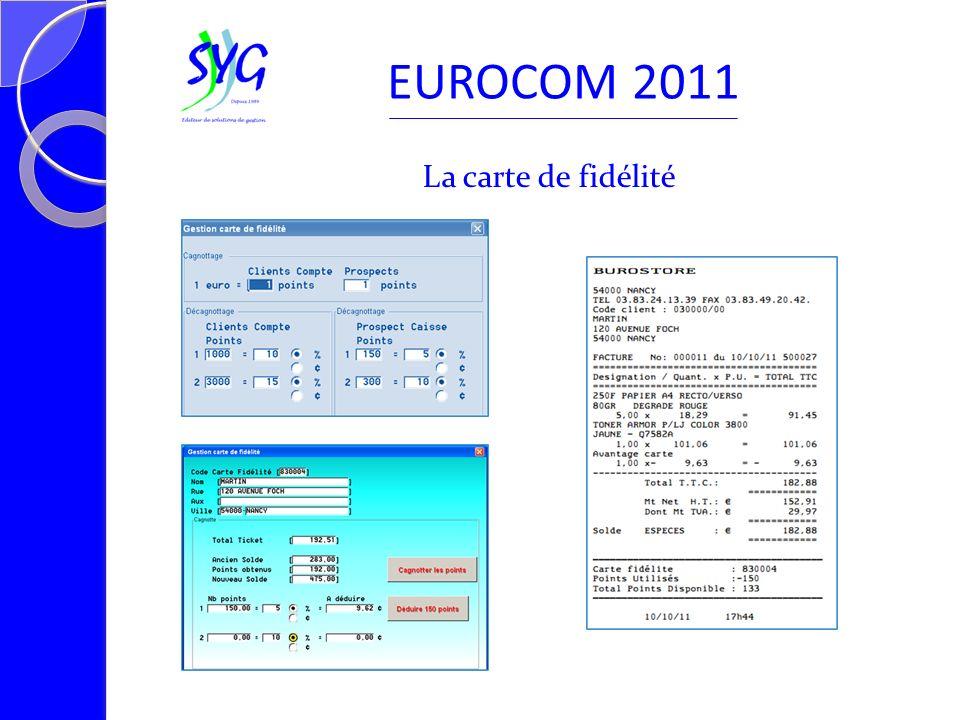 La carte de fidélité EUROCOM 2011