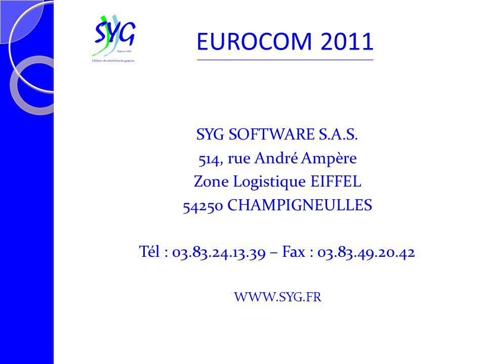 SYG SOFTWARE S.A.S.