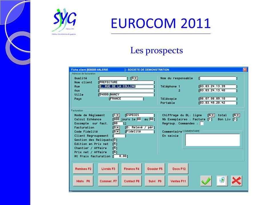 Les articles et prestations EUROCOM 2011