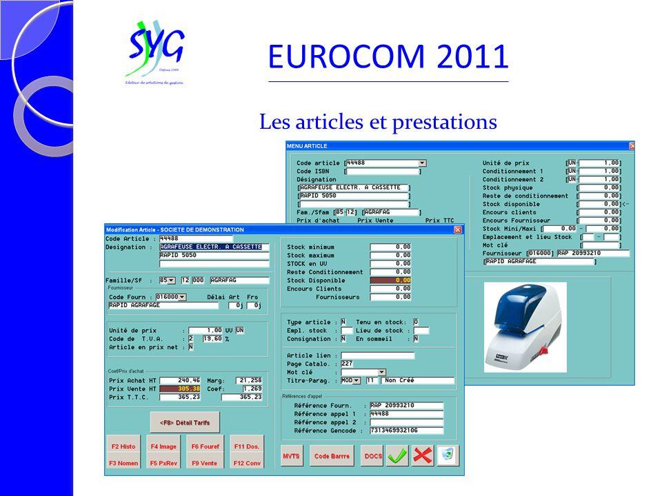 Consultation historique clients EUROCOM 2011