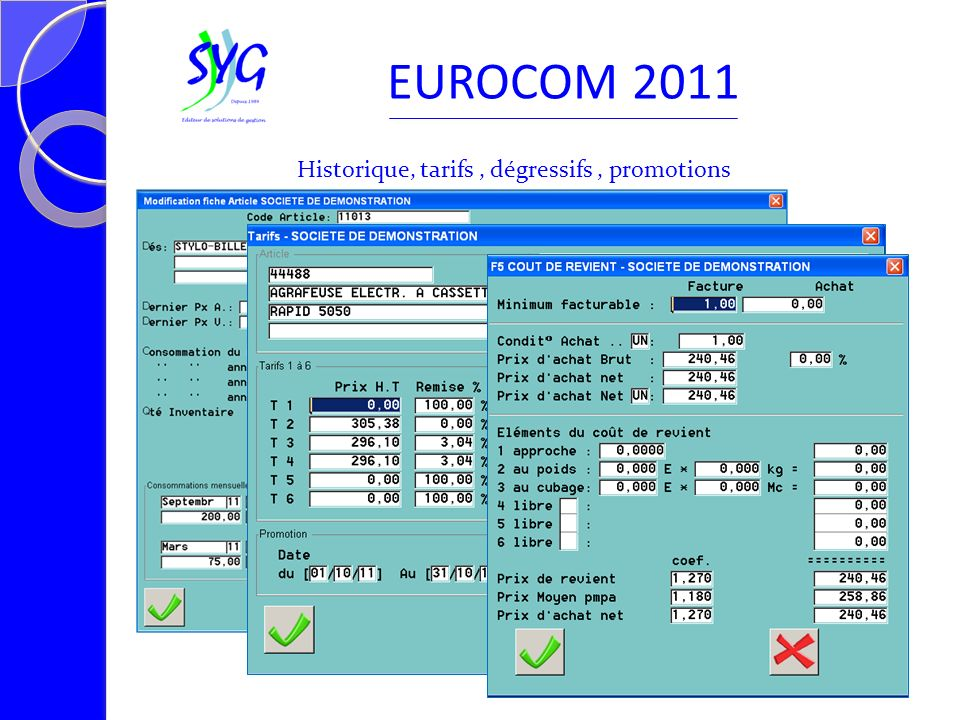 Visualisation du document commercial EUROCOM 2011