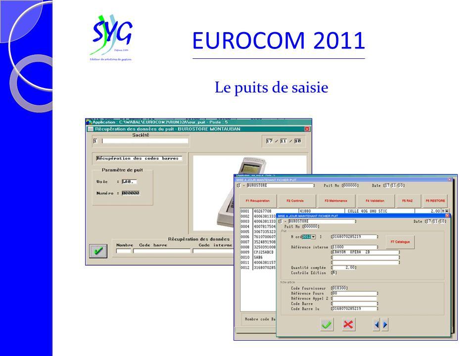 Le puits de saisie EUROCOM 2011