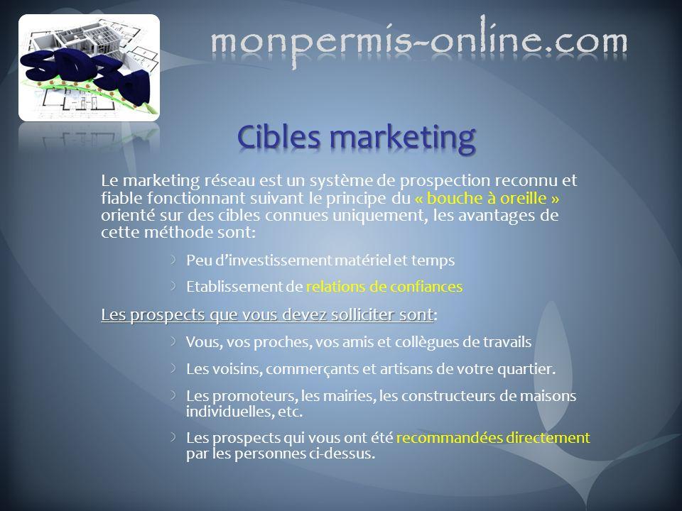 Le marketing réseau est un système de prospection reconnu et fiable fonctionnant suivant le principe du « bouche à oreille » orienté sur des cibles co