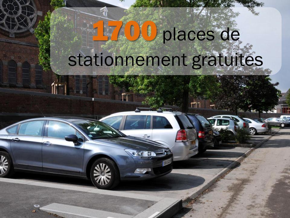 1700 1700 places de stationnement gratuites