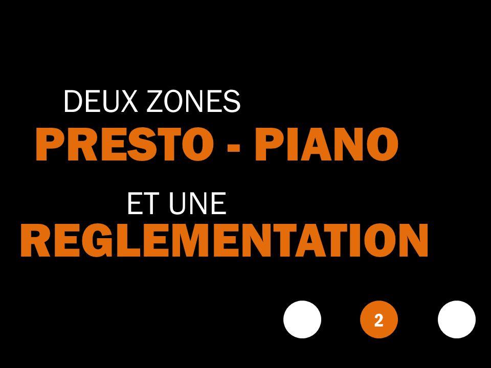 DEUX ZONES PRESTO - PIANO ET UNE REGLEMENTATION 2