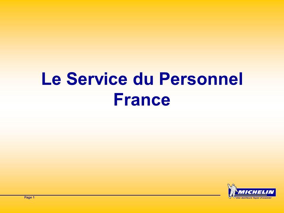 Page 1 Le Service du Personnel France
