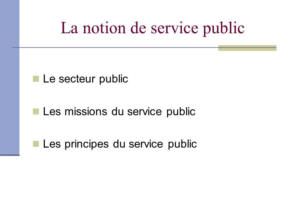 Le secteur public Les administrations publiques Les collectivités territoriales, les régions, les départements et les communes.