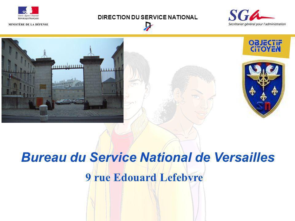 DIRECTION DU SERVICE NATIONAL Bureau du Service National de Versailles 9 rue Edouard Lefebvre