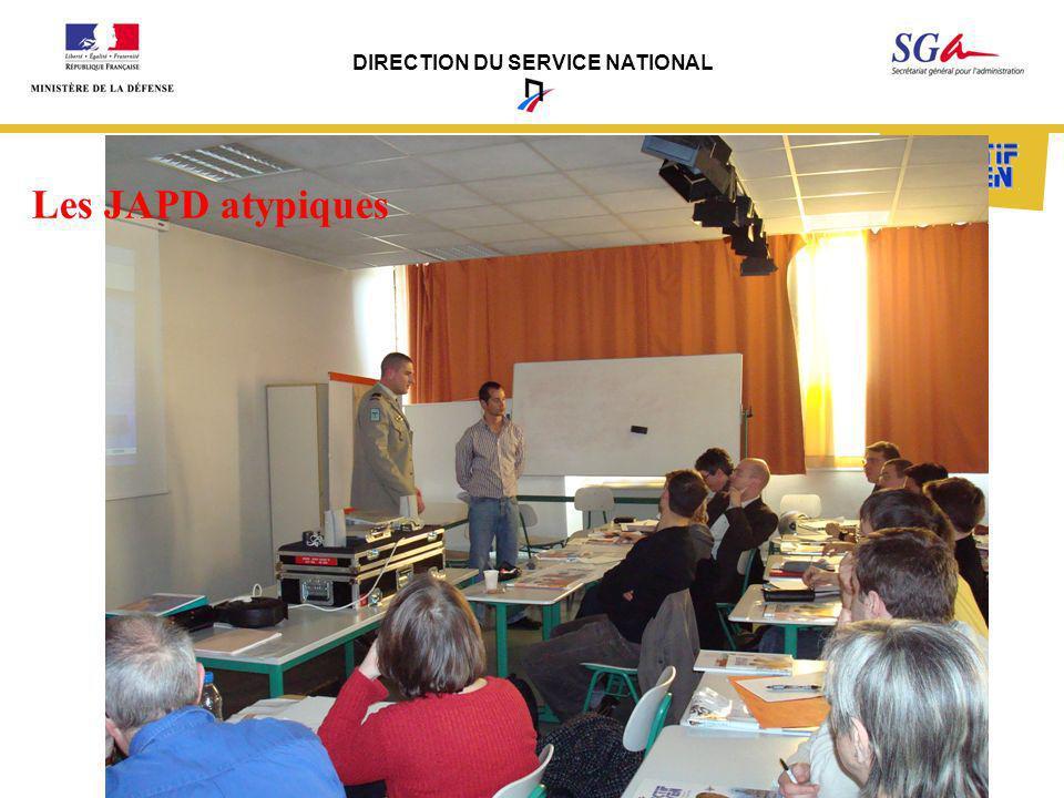 DIRECTION DU SERVICE NATIONAL Les JAPD atypiques