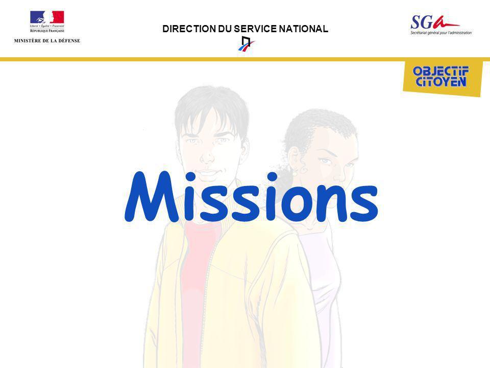 DIRECTION DU SERVICE NATIONAL Prendre en compte le recensement garçons et filles en prise directe avec mairies.