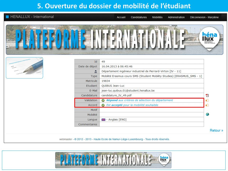 6. Interaction automatisée - Mail