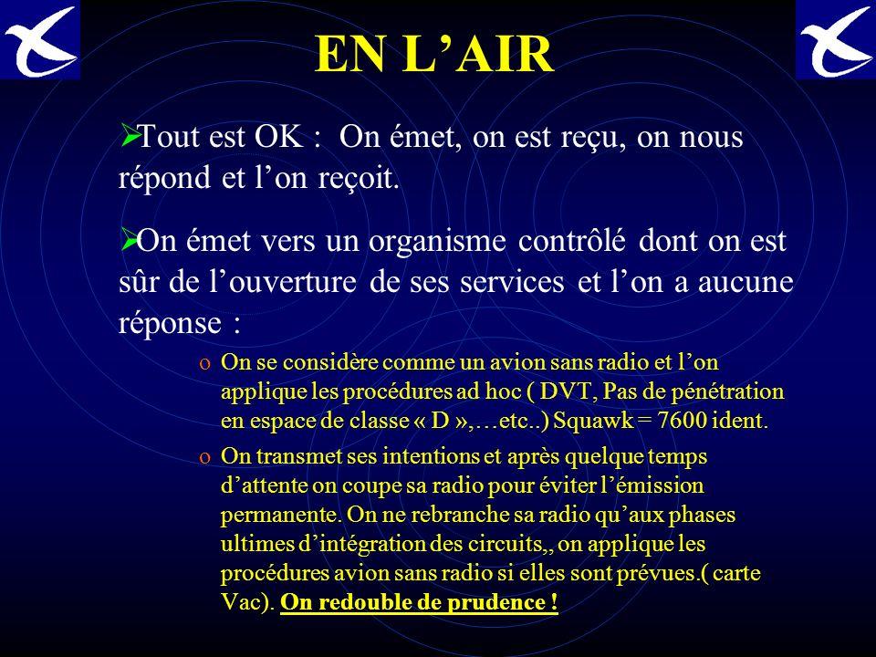CONSTRUCTION DU CONTENU DU MESSAGE RADIO 3ème partie du message Un message se termine soit par un collationnement soit par une répétition de la « clairance limite »soit par une clôture de message ….