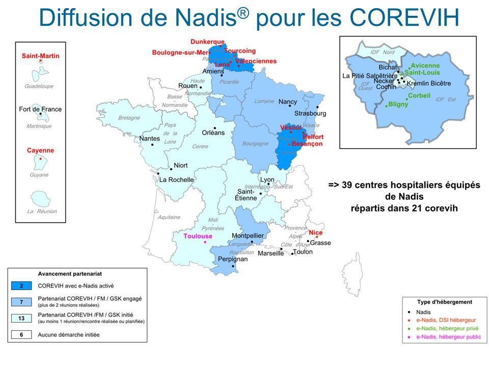 Diffusion de Nadis ® pour les COREVIH