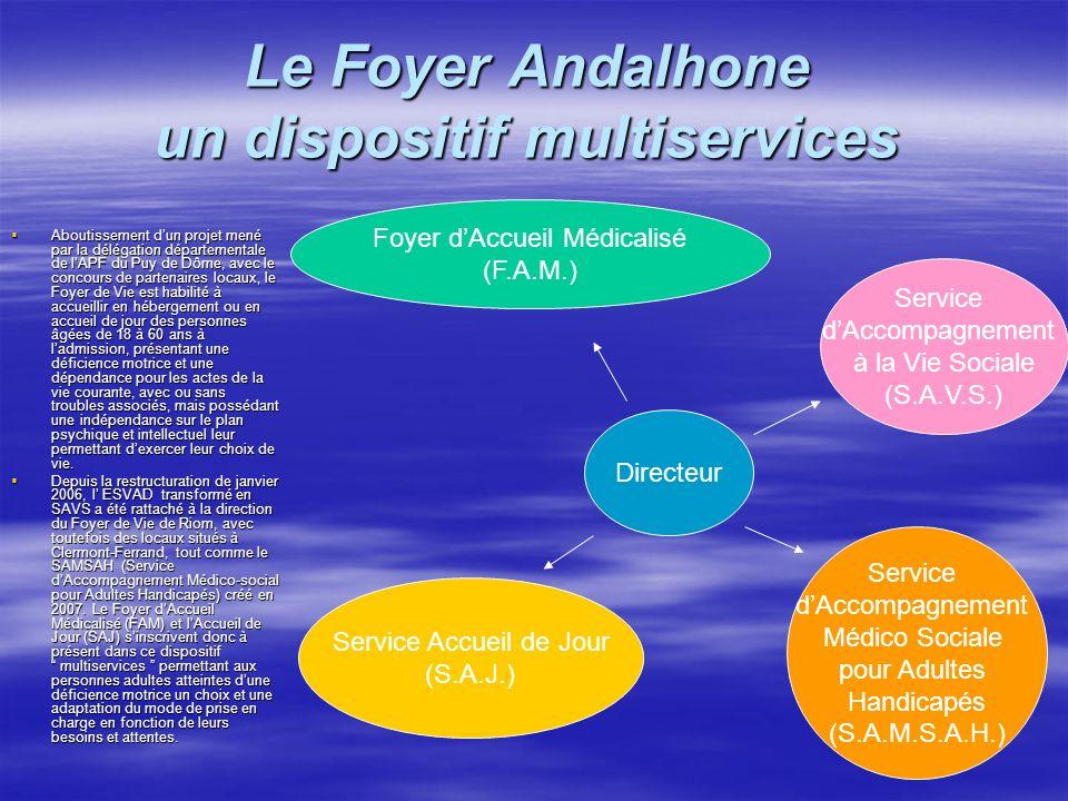 Le Foyer Andalhone un dispositif multiservices Aboutissement dun projet mené par la délégation départementale de lAPF du Puy de Dôme, avec le concours