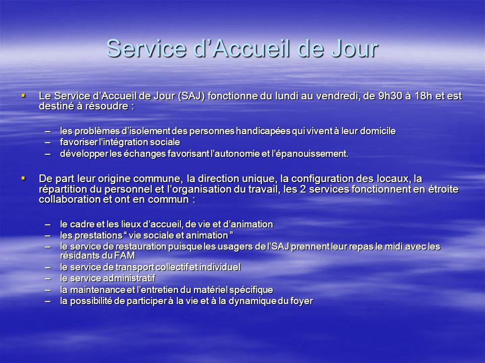Service dAccueil de Jour Le Service dAccueil de Jour (SAJ) fonctionne du lundi au vendredi, de 9h30 à 18h et est destiné à résoudre : Le Service dAccu