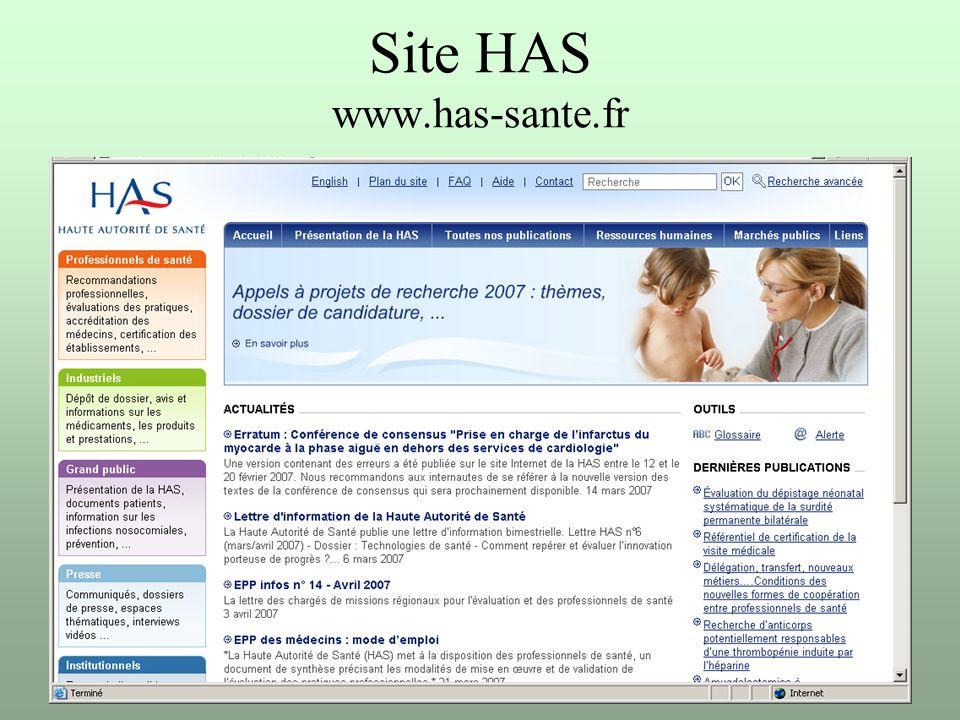 PhL Mai 2007 Site HAS www.has-sante.fr