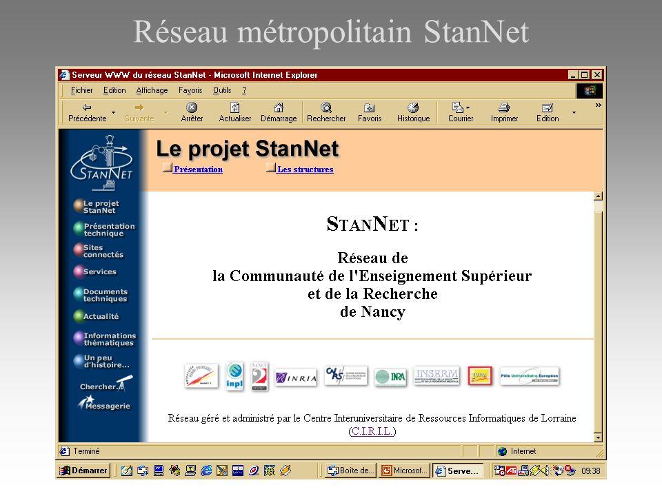 Réseau métropolitain StanNet