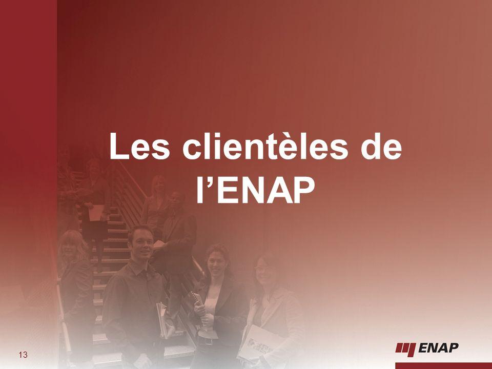 13 Les clientèles de lENAP