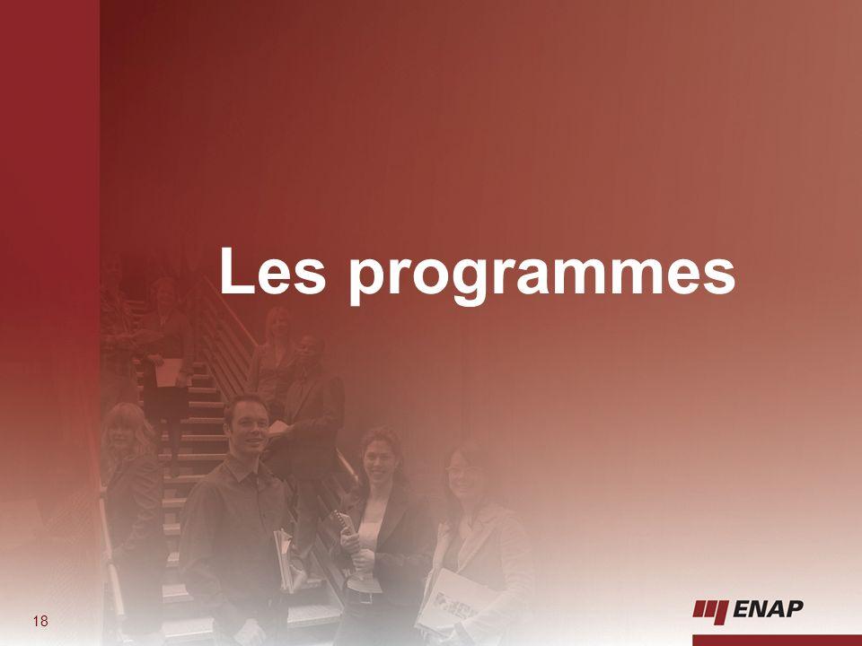 Les programmes 18