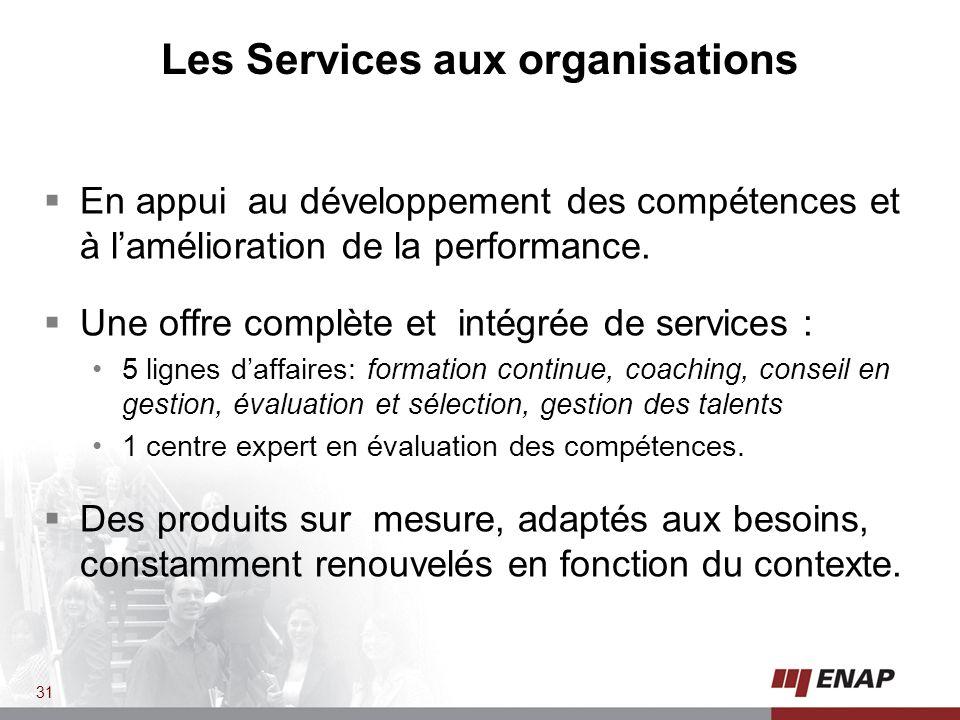 En appui au développement des compétences et à lamélioration de la performance.