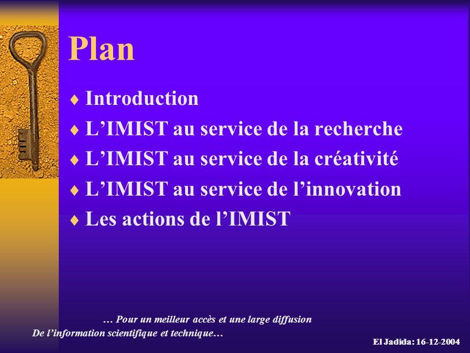 Les actions de lIMIST La lettre de lIMIST Signaler les opportunités scientifiques et technologiques nationales et internationales intéressant les acteurs du développement économique et de la recherche du Maroc.