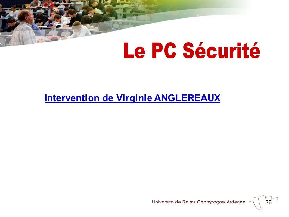 26 Intervention de Virginie ANGLEREAUX