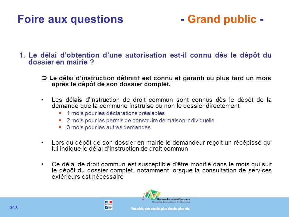 Foire aux questions - Grand public - 1.