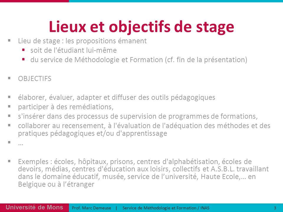 Université de Mons Prof.
