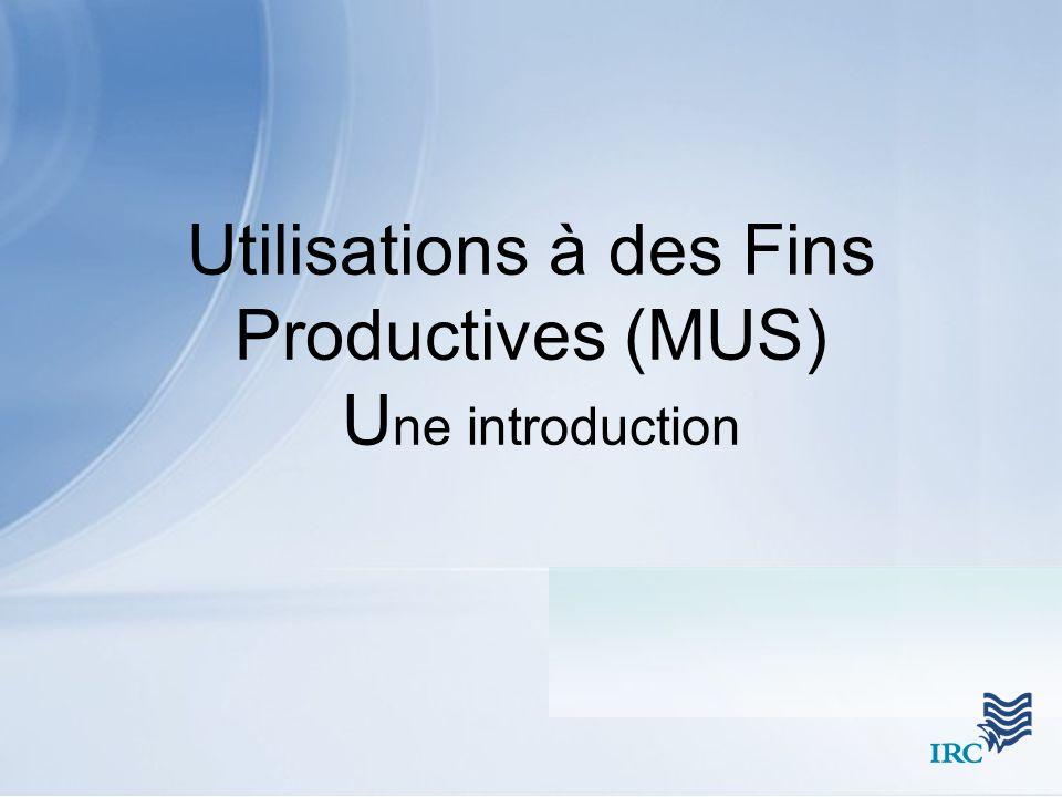 Utilisations à des Fins Productives (MUS) U ne introduction