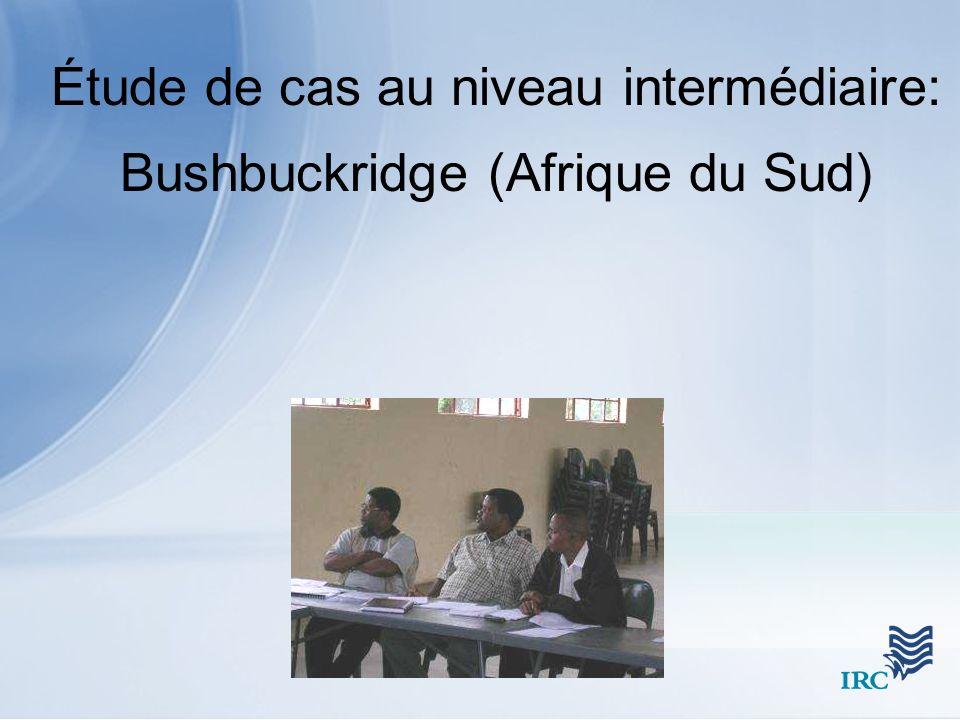 Étude de cas au niveau intermédiaire: Bushbuckridge (Afrique du Sud)