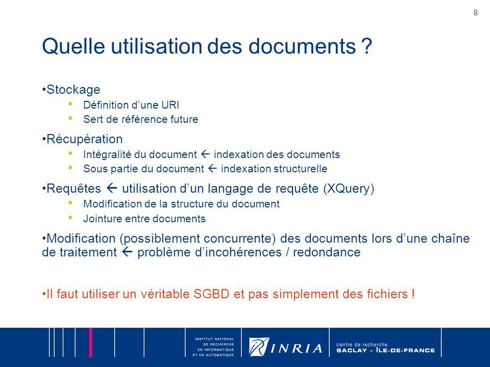 8 Quelle utilisation des documents .
