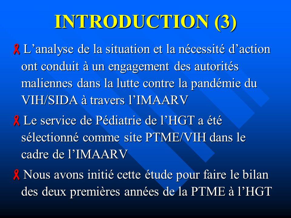 INTRODUCTION (3) Lanalyse de la situation et la nécessité daction ont conduit à un engagement des autorités maliennes dans la lutte contre la pandémie