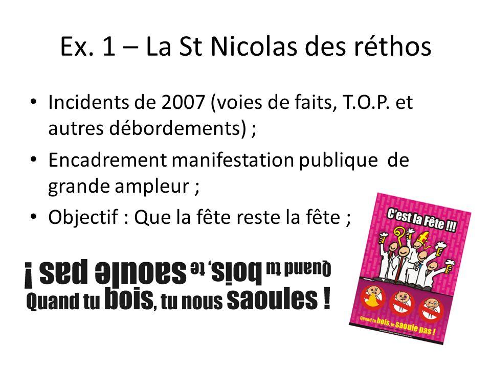 Ex. 1 – La St Nicolas des réthos Incidents de 2007 (voies de faits, T.O.P.
