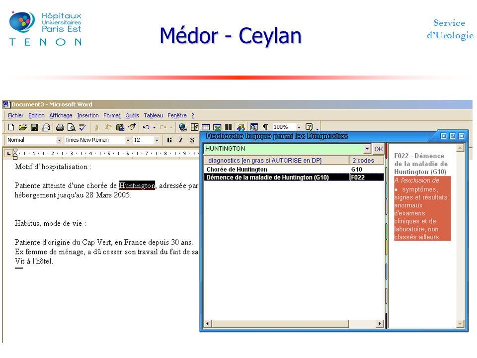 Service dUrologie Médor - Ceylan